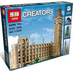 Lepin 17005 Lele 30003 Creator Expert 10253 Big Ben Elizabeth Tower Xếp hình tháp đồng hồ Big Ben 4163 khối