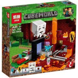 Lepin 18038 Sheng Yuan SY990 Minecraft 21143 The Nether Portal Xếp hình Cổng Địa Ngục 527 khối
