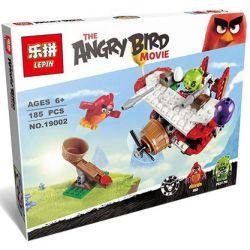 Lepin 19002 Angry Birds 75822 Piggy Plane Attack Xếp hình cuộc tấn công của máy bay siêu trộm 185 khối