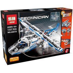 Lepin 20016 Technic 42025 Cargo Plane Xếp hình Máy Bay Vận Tải Động Cơ Pin 1377 khối