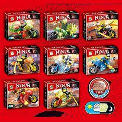 Sheng Yuan SY696 Ninja Movie MOC Ninjago Motorcycle Xếp Hình Bộ Sưu Tập Những Chiếc Môtô Của Các Ninja 215 Khối