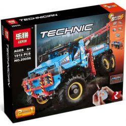 Lepin 20056 Technic 42070 6x6 All Terrain Tow Truck Xếp Hình Xe Bán Tải 6 Bánh Chủ động Có Cẩu điều Khiển Từ Xa 1912 Khối