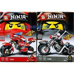 Sheng Yuan 7009 SY7009 (NOT Lego Ninjago Movie Motorcycles Of Kai And Cole ) Xếp hình Xe Môtô Của Kai Và Cole gồm 2 hộp nhỏ 392 khối