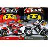 Sheng Yuan SY7009 Ninja Movie MOC Motorcycles Of Kai And Cole Xếp Hình Xe Môtô Của Kai Và Cole 392 Khối