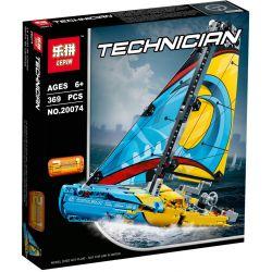 Lepin 20074 Decool 3374 Technic 42074 Racing Yacht Xếp hình Thuyền buồm đua 369 khối