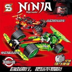 Sheng Yuan SY-7010 Ninja Movie MOC The racing car is equipped with the Ninjago's gun system Xếp hình Chiếc xe đua được trang bị hệ thống súng của Ninjago 338 khối