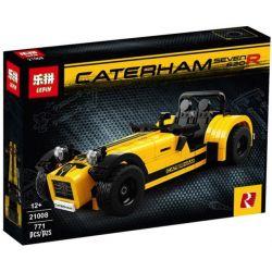 Lepin 21008 Yile 006 Decool 8612 Creator 21307 Caterham Seven 620R Xếp hình ô tô Caterham Seven 620R vàng xanh da trời 771 khối