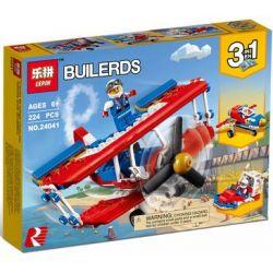 Lepin 24041 Sheng Yuan 1026 SY1026 Creator 3 in 1 31076 Daredevil Stunt Plane Xếp hình Máy Bay Nhào Lộn lắp được 3 mẫu 224 khối