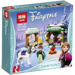 Lepin 25001 Bela 10661 Decool 70216 Lele 37017 Disney Princess 41147 Anna's Snow Adventure Xếp hình Cuộc phiêu lưu tuyết của Anna 175 khối