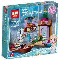Lepin 25015 Disney Princess 41155 Elsa's Market Adventure Xếp hình Chuyến thăm quan chợ của Elsa 140 khối