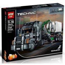 Lepin 20076 Technic 42078 Mack Anthem Truck Xếp hình Xe đầu kéo siêu hiện đại 2907 khối