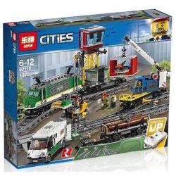 Lepin 02118 City 60198 Cargo Train Xếp hình Tàu Chở Hàng Có Điều Khiển Từ Xa 1373 khối