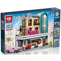 Lepin 15037 Creator Expert 10260 Downtown Diner Xếp hình Nhà hàng ăn tối dưới phố 2778 khối