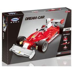 XingBao 03023 Technic MOC Red shadow F1 formula Xếp hình Xe đua công thức 1 2405 khối