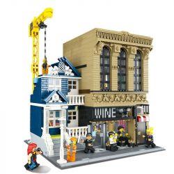 Lepin 15035 (NOT Lego Modular Buildings Bar And Finance Company ) Xếp hình Quầy Rượu Và Công Ty Tài Chính 2841 khối