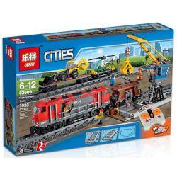 Lepin 02009 City 60098 Heavy-Haul Train Xếp hình Tàu Chở Hàng Nặng Có Điều Khiển Từ Xa 1033 khối