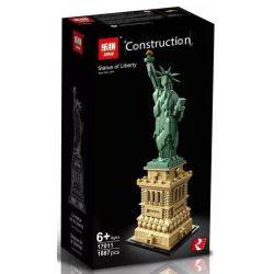 Lepin 17011 Sheng Yuan 1202 (NOT Lego Architecture 21042 Statue Of Liberty ) Xếp hình Tượng Nữ Thần Tự Do 1887 khối