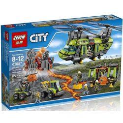 Lepin 02087 Bela 10642 City 60125 Volcano Heavy-lift Helicopter Xếp hình Trực thăng vận tải nghiên cứu núi lửa 1430 khối