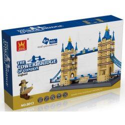 Wange 8013 5215 (NOT Lego Architecture The Tower Bridge ) Xếp hình Cầu Tháp Luân Đôn gồm 2 hộp nhỏ 1033 khối