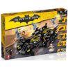 Lepin 07077 Bela 10740 Decool 7132 Sheng Yuan SY942 Batman Movie 70917 The Ultimate Batmobile Xếp hình Siêu Xe Của Người Dơi 1496 khối
