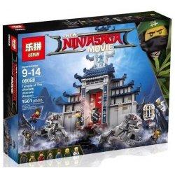 Lepin 06058 Bela 10722 Lele 31075 Sheng Yuan SY959 Ninjago Movie 70617 Temple Of The Ultimate Ultimate Weapon Xếp hình Ngôi Đền Vũ Khí Tối Thượng 1501 khối