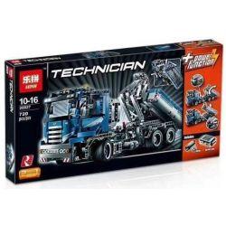 Lepin 20027 Technic 8052 Container Truck Xếp hình Xe Tải Chở Container Động Cơ Pin 720 khối