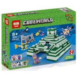 Lepin 18029 Lele 33083 Bela 10734 Sheng Yuan 970 SY970 (NOT Lego Minecraft 21136 The Ocean Monument ) Xếp hình Đài Tưởng Niệm Dưới Đáy Biển 1122 khối