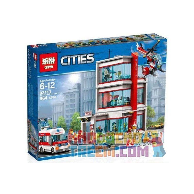 Lepin 02113 City 60204 City Hospital Xếp hình Bệnh viện thành phố 964 khối