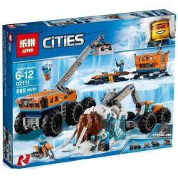 Lepin 02111 City 60195 Arctic Mobile Exploration Base Xếp hình Căn cứ thám hiểm di động Bắc Cực 880 khối