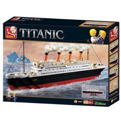 Sluban M38-B0577 Creator MOC Titanic ShipBoat Xếp hình Tàu Titanic 1021 khối