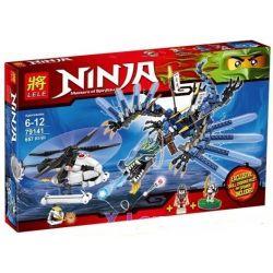 Lele 79141 Ninjago Movie 2521 Lightning Dragon Battle Xếp hình Cuộc Chiến Của Rồng Sét 657 khối