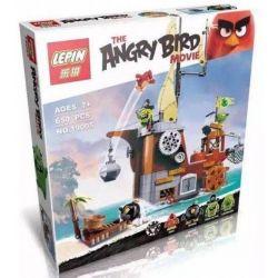 Lepin 19005 Bela 10509 Angry Birds 75825 Piggy Pirate Ship Xếp hình tàu cướp biển của siêu trộm 650 khối