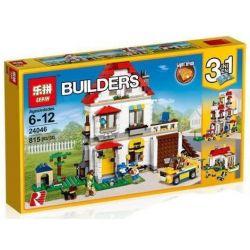 Lepin 24046 Lele 33077 Creator 3 in 1 31069 Modular Family Villa Xếp hình Biệt Thự Gia Đình lắp được 3 mẫu 815 khối
