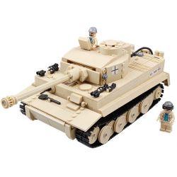 Kazi Gao Bo Le GBL Bozhi KY82011 Military Army German Tiger Tank Xếp Hình Xe Tăng Đức Con Hổ 995 Khối