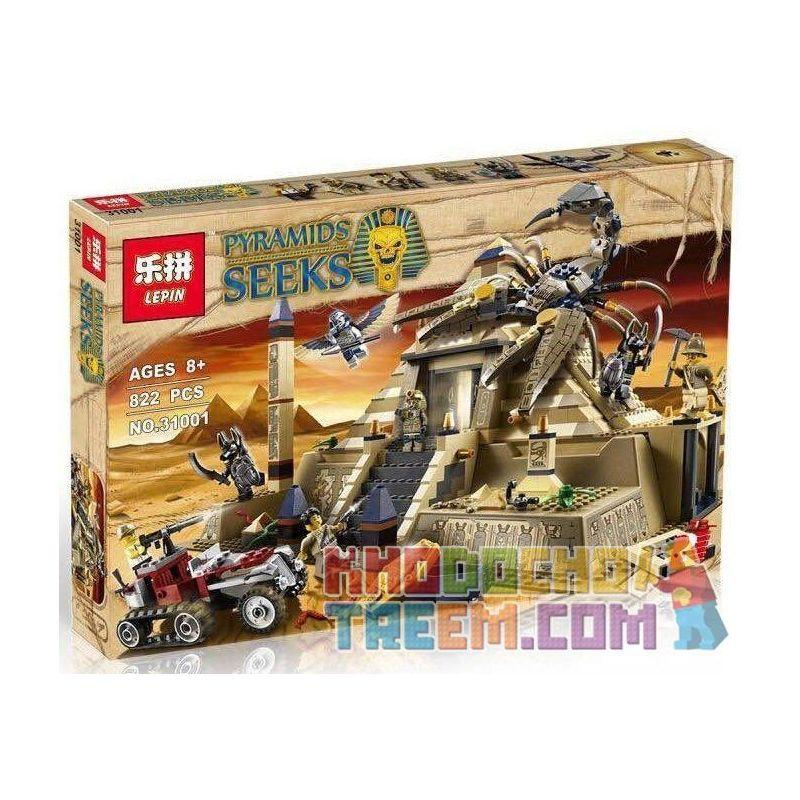 Lepin 31001 (NOT Lego Movie 7327 Scorpion Pyramid ) Xếp hình Kim Tự Tháp Của Vua Bọ Cạp 822 khối