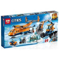 Lepin 02112 City 60196 Arctic Supply Plane Xếp hình Máy bay hậu cần Bắc Cực 791 khối