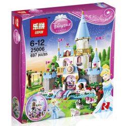 Lepin 25006 Lele 79279 Sheng Yuan SY325 Disney Princess 41055 Cinderella's Romantic Castle Xếp hình Lâu Đài Của Lọ Lem 697 khối