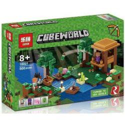 Lepin 18027 Decool 828 Bela 10622 Minecraft 21133 The Witch Hut Xếp hình Ngôi lều phù thủy 500 khối
