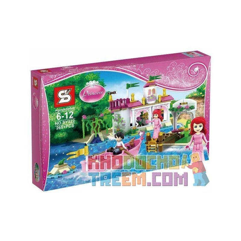 Sheng Yuan SY322 Disney Princess 41052 Ariel's Magical Kiss Xếp hình Nụ hôn màu nhiệm của nàng tiên cá 265 khối