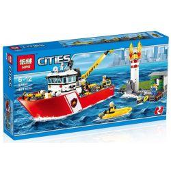 Lepin 02057 City 60109 Fire Boat Xếp hình Thuyền cứu hỏa lớn 461 khối