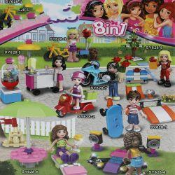 Sheng Yuan SY-628 Friends MOC Trip of the girls Xếp hình Chuyến đi của các cô gái 227 khối