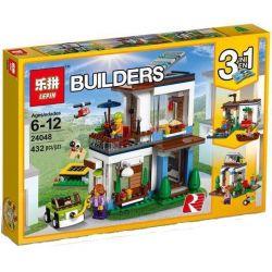 Lepin 24048 Creator 3 in 1 31068 Modular Modern Home Xếp hình Ngôi nhà hiện đại 432 khối