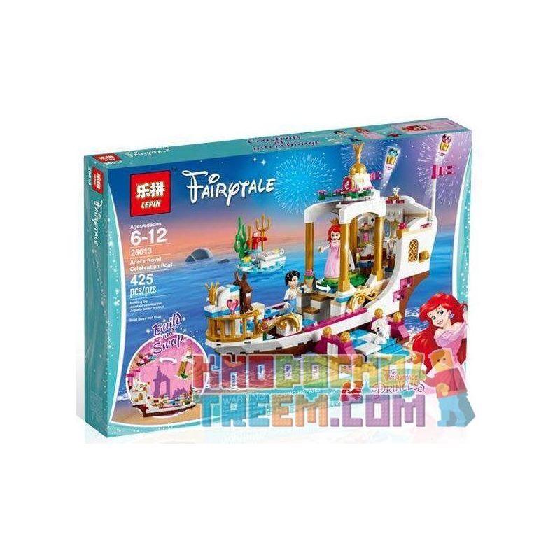 Lepin 25013 Bela 10891 Lele 37062 Sheng Yuan SY987 Disney Princess 41153 Ariel'S Royal Celebration Boat Xếp hình Du Thuyền Hoàng Gia Của Nàng Tiên Cá 425 khối