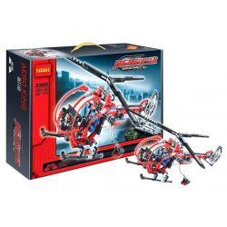 Decool 3356 Technic 8068 Rescue Helicopter Style 2 Xếp Hình Máy Bay Trực Thăng Cứu Nạn Buồng Lái Tròn (Mẫu 2) 300 Khối