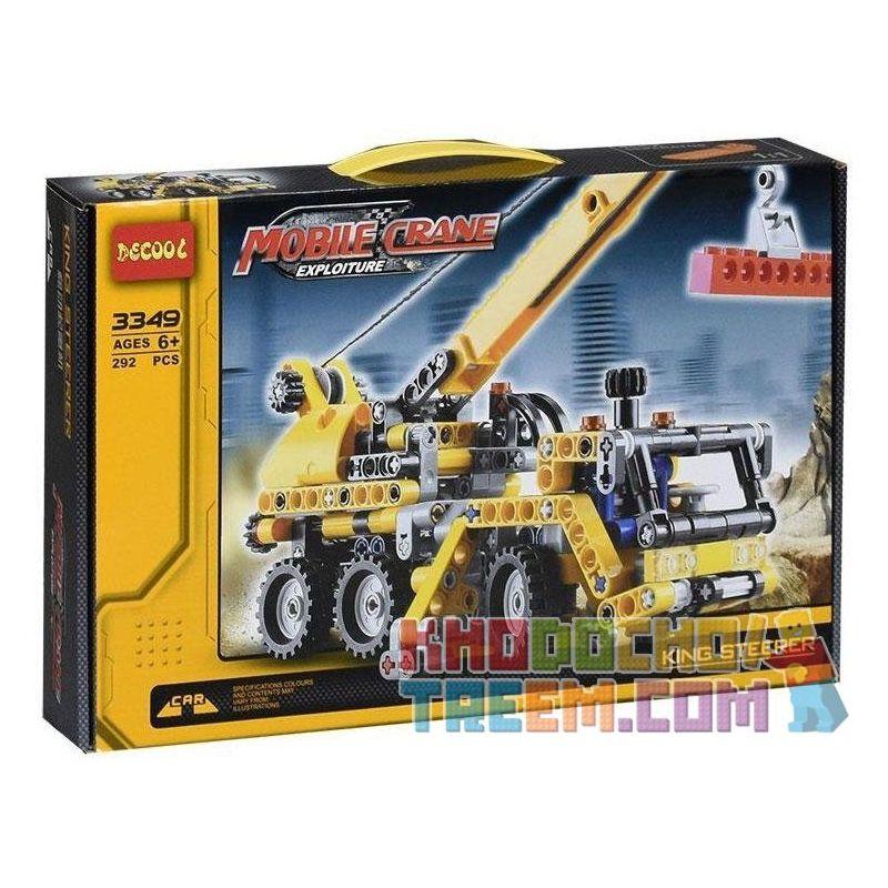Decool 3349 Technic 8067 Mini Mobile Crane Style 2 Xếp Hình Xe Tải Cần Trục (Mẫu 2) 292 Khối
