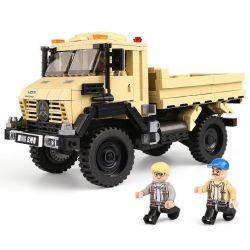 XingBao 03026 City MOC Super offroad adventure Truck Xếp hình Xe vượt địa hình Truck2 màu vàng, trắng 529 khối
