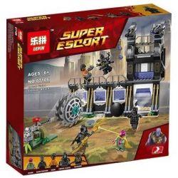 Lepin 07106 Sheng Yuan 1042 SY1042 Bela 10838 (NOT Lego Marvel Super Heroes 76103 Corvus Glaive Thresher Attack ) Xếp hình Đẩy Lùi Đòn Tấn Công Của Corvus Glaive 466 khối