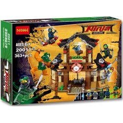 Decool 20011 Ninjago MOC Disputes of the Shattered Temple Xếp hình Cuộc tranh chấp đền thờ của Ninja 363 khối