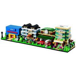Decool 1110 1111 1112 1113 Mini Modular 40141 40142 40143 40144 Bricktober Hotel Train Station Bakery Toys R Us Store Xếp hình Khách Sạn Ga Tàu Hỏa Tiệm Bánh Cửa Hàng Đồ Chơi 783 khối