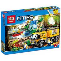 Lepin 02062 Bela 10711 Lele 39064 City 60160 Jungle Mobile Lab Xếp Hình Trạm Nghiên Cứu Rừng Lưu Động 460 Khối